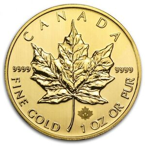 1 oz Misc. Year Canadian Maple Leaf $50 Gold Coin 9999