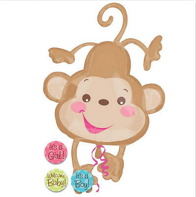 Fisher Price Monkey Baby Shower SuperShape Mylar Foil Balloon (26
