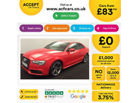 Red AUDI A5 COUPE 1.8 2.0 TDI Diesel BLACK EDITION FROM £83 PER WEEK!