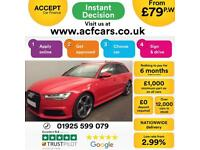 2015 RED AUDI A6 AVANT 2.0 TDI ULTRA BLACK EDITION ESTATE CAR FINANCE FROM 79 PW