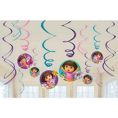 Dora The Explorer Birthday Decorations (Disney Dora the Explorer Swirl Decorations For Birthday Party Supplies Favor)