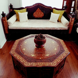 MUGHL DEWAN SETS - SOLID SHEESHAM WOOD