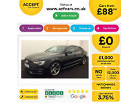 Black AUDI A5 SALOON 1.8 2.0 TDI Diesel BLACK EDITION FROM £77 PER WEEK!
