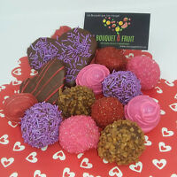 Edible fresh fruit bouquets and chocolate treats