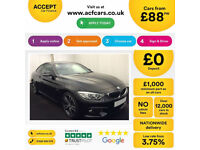 Black BMW 430d M Sport 258 BHP Coupe 2 door 2014 FROM £88 PER WEEK!