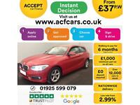 2015 RED BMW 116D 1.5 EFD PLUS DIESEL MANUAL 3DR CAR FINANCE FROM 37 P/WK