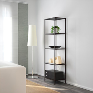 Ikea Single & Double Shelving Units in Tempered Glass and Metal