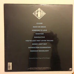 RARE!- THE FIRM SELF-TITLED 1st LP FACTORY SEALED 1st PRESS MINT West Island Greater Montréal image 2