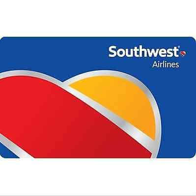 Southwest Airlines Gift Card    25  50  100 Or  200   Fast Email Delivery