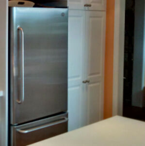 Like New Stainless Steel GE Refrigerator $475 OBO