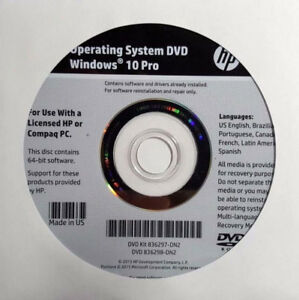 Windows 8/ 10 Pro DVD