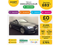 Grey AUDI A5 CABRIOLET CONVERTIBLE 1.8 2.0 TDI Diesel S LINE FROM £83 PER WEEK!