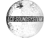 1 x Standing Ticket for LCD Soundsystem on Sat 23rd Sept in London