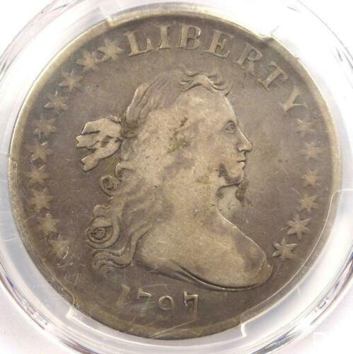 1797 Draped Bust Small Eagle Silver Dollar $1 - PCGS VG Details - Rare Coin!