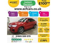 2016 RED BMW X4 3.0 XDRIVE30D M SPORT DIESEL AUTO COUPE CAR FINANCE FR £100 PW