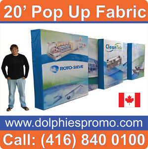 20' Tension Fabric Trade Show Pop Up Booth Banner Stand