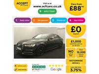 Black AUDI A6 SALOON 2.0 3.0 TDI Diesel SPORTS LINE FROM £88 PER WEEK!