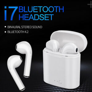 I7S TWS Wireless Bluetooth Earbuds, V4.2 EDR with Charging Case