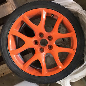 "Orange Mazda Rims Powdercoated 18"" (set of 4)"