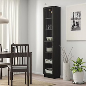 IKEA BILLY Bookcase with All Glass Door $60 Black Brown Colour