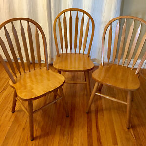 Oak Kitchen / Dining Chairs Set of 3 or Singles
