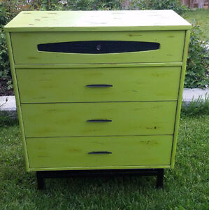 Vintage 1940's Heavy solid wood Shabby chic dresser