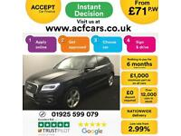 2014 BLACK AUDI Q5 2.0 TDI 177 QUATTRO S LINE + DIESEL AUTO CAR FINANCE FR 75 PW