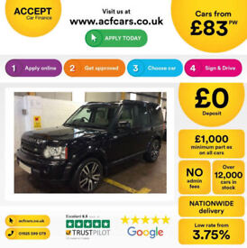 LAND ROVER DISCOVERY 3 2.7 TD V6 7 SEAT XS HSE LUXURY GS 4 3.0 FROM £83 PER WEEK