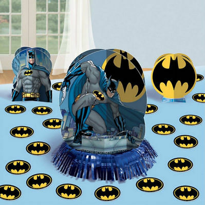 Batman Table Decorating Kit 23 Piece Centerpiece Party Supplies](Batman Centerpieces)