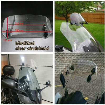 MOTORCYCLE MODIFIED ACRYLIC CLEAR WINDSHIELD WINDSHIELD SPOILER AIR DE