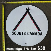 FINAL CLEARANCE - MAKE AN OFFER - Scouts Canada metal sign