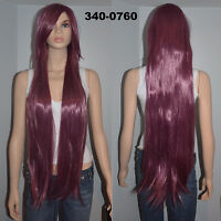 BRAND NEW: Deluxe 100cm Straight Plum Cosplay Wig (340-0760)