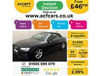 2012 BLACK AUDI A5 CABRIOLET 2.0 TDI S LINE DIESEL MANUAL CAR FINANCE FROM 46 PW