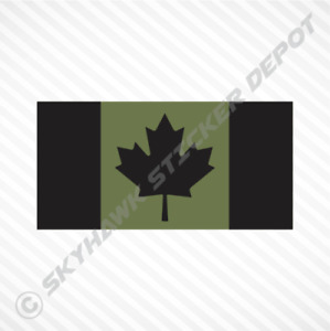 Canadian Flag Sticker Army Vinyl Decal Maple Leaf Honda Jeep VW