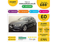 Audi A3 S Line FROM £88 PER WEEK!
