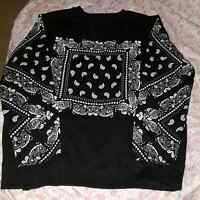 Men's bandana print sweater for sale.
