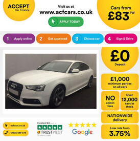 White AUDI A5 SALOON 1.8 2.0 TDI Diesel BLACK EDITION FROM £83 PER WEEK!