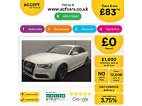 Audi A5 Sportback Black Edition FROM £83 PER WEEK!