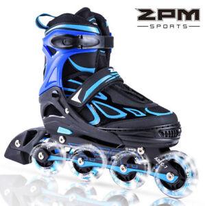 New 2PM SPORTS Vinal Adjustable illuminating  Inline Skates