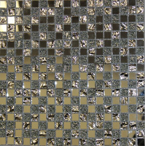 Mosaic back splash wall tiles glass stainless steel shell subway