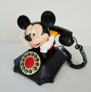 Vintage Disney Mickey Mouse Push Button Telephone