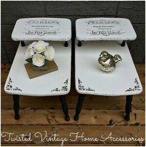 vintage Shabby Chic End Table / Side Tables $110 EACH