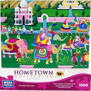 Mega Puzzles Hometown Collection: Elephant Festival - 1000pcs