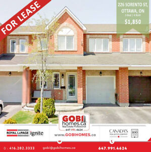 3 Bedrooms House for RENT in Ottawa, ON