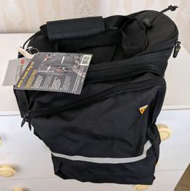 Topeak bike trunk bag and pannier bags