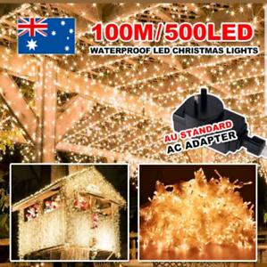 Warm White 500 Led 100m Fairy String Lights Wedding Christmas