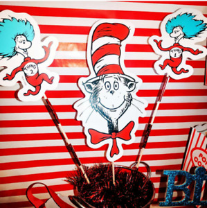 Cat in the hat -1st birthday decorations
