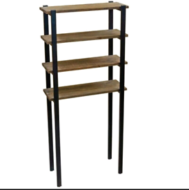 Tall Reclaimed Wood Shelving Unit (Over the Toilet Shelf)