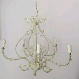 White enamel chandelier