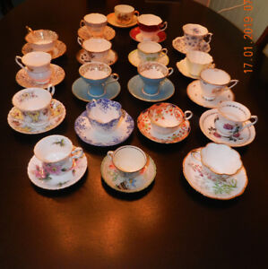 ANTIQUE TEA CUPS FOR SALE - ALL IN MINT CONDITION.
